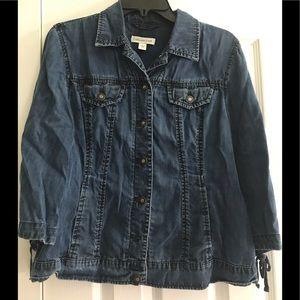Denim jacket w/ 3/4 length sleeves